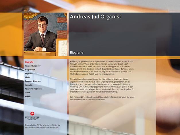 Organist Andreas Jud